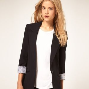 ASOS Boyfriend Blazer in Navy